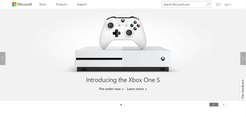 Microsoft Screenshot Landing Page