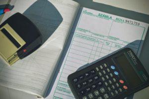 számla számológép toll